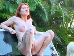 Naughty milf Veronika Vain fingers her tight pussy in front of guilty Piper Perri