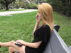 Beautiful blonde babe Hope Harper gives a nice blowjob